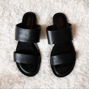 Michael Kors Black Slip On Sandals Size 7.5